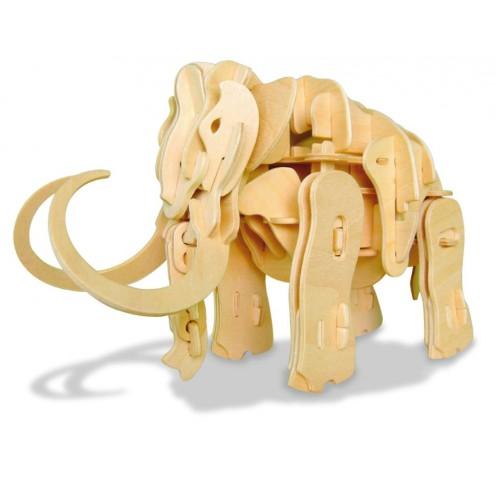 Koottava puinen mammutti Laughing Milla Palapelit