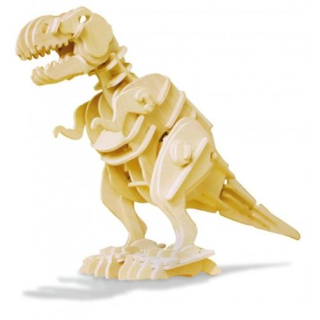 Koottava puinen kävelevä T-Rex Laughing Milla Palapelit