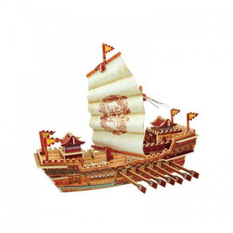 Koottava puinen laiva Tower Ship Laughing Milla Palapelit