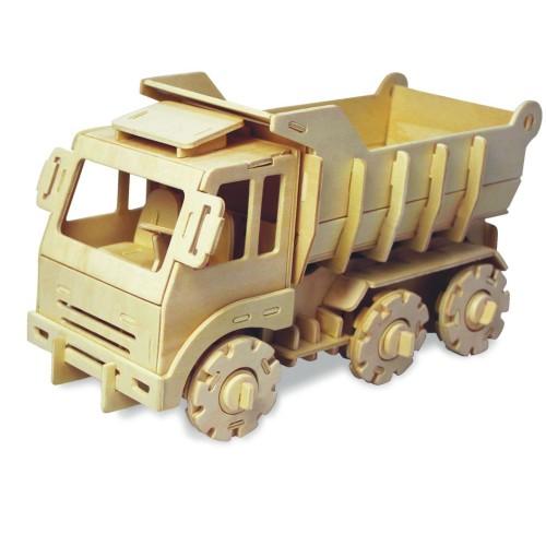 Koottava puinen laiva Kuorma-auto Laughing Milla Palapelit